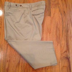 George Woman's Size 12 Khaki Capri Career Pants